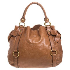 Miu Miu Brown Leather Bow Tote