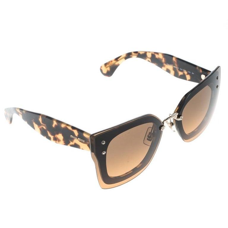 5ddedb62439a Miu Miu Brown Tortoise SMU 04R Butterfly Sunglasses For Sale at 1stdibs