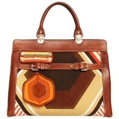 MIU MIU Canvas And Leather Bag