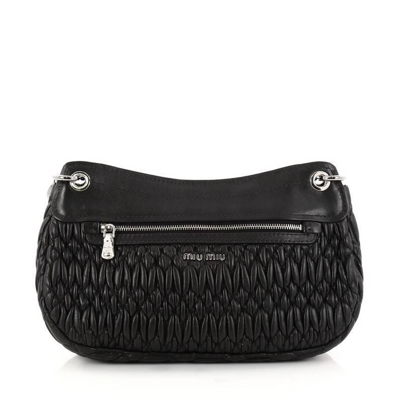 Miu Miu Crystal Flap Shoulder Bag Matelasse Leather Medium gAcGBrozwv
