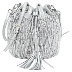 Miu Miu Drawstring Bucket Bag Matelasse Sequins Small