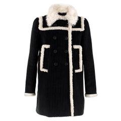 Miu Miu Faux Shearling-Trimmed Corduroy Coat   IT40 XS