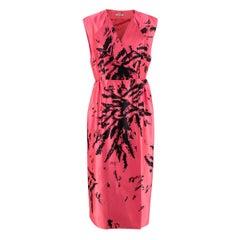 Miu Miu Grapefruit Pink Printed Wrap Dress - Us size 10
