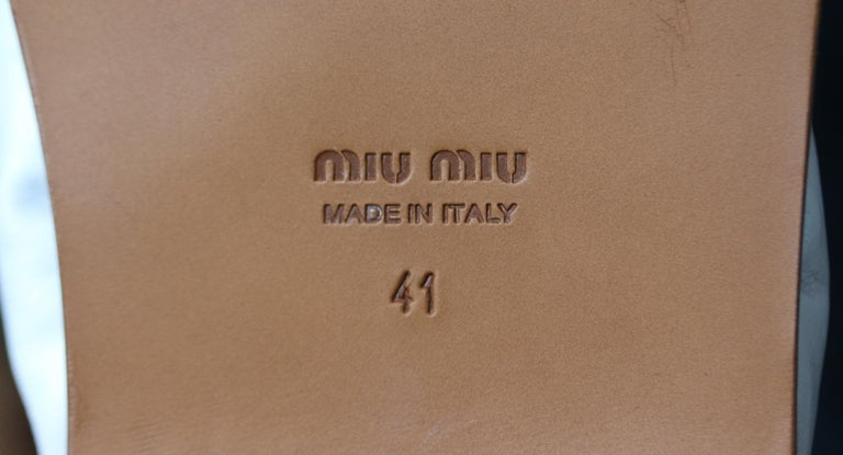 Miu Miu Knotted Leather Sandals For Sale 2