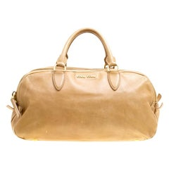 Miu Miu Light Brown Leather Satchel