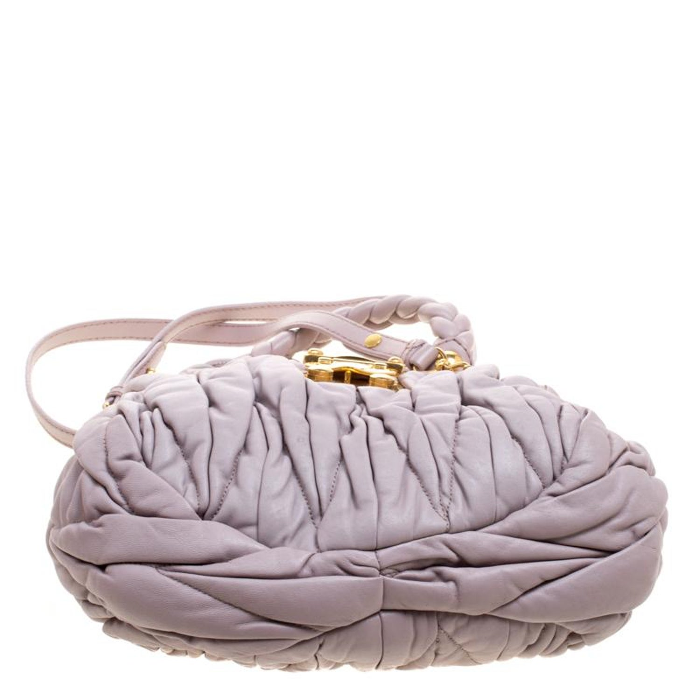f97a29284726 Miu Miu Lilac Matelasse Leather Shoulder Bag For Sale at 1stdibs