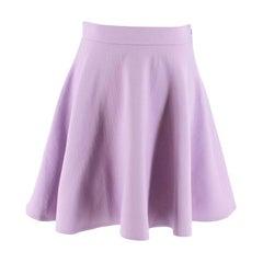 Miu Miu Lilac Wool Skater Skirt S 42