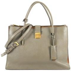 Miu Miu Madras Convertible Compartment Top Handle Bag Leather Large