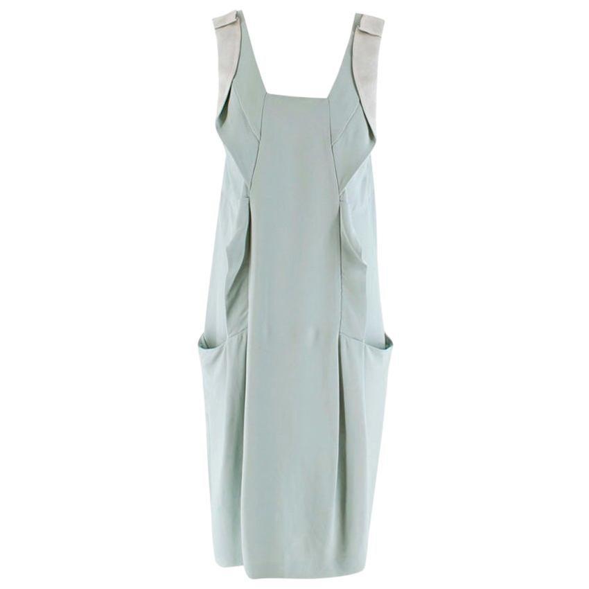 MIU MIU Mint Green Sleeveless Ruffled Dress - Size US 12