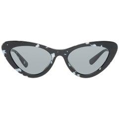 Miu Miu Mint Women Black Sunglasses U01VSA 55PC79K1 55-19-146 mm