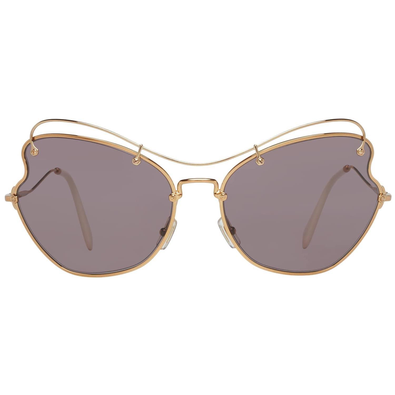 Miu Miu Mint Women Gold Sunglasses MU56RS 7OE6X165 65-19-158 mm