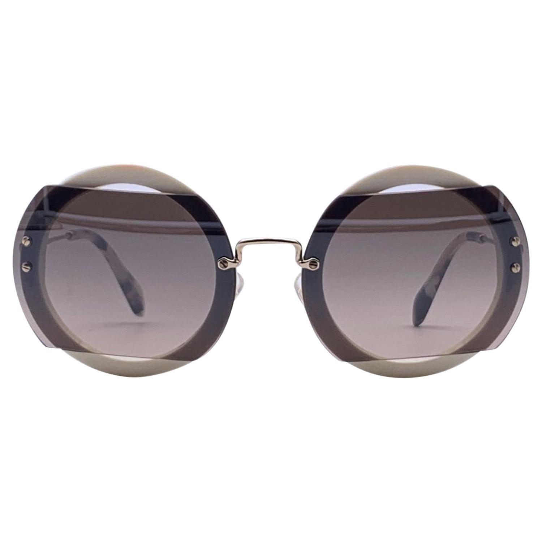 Miu Miu Mint Women White Sunglasses SMU06S 63VAG4P0 63-17 140 mm