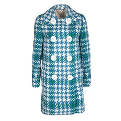 Miu Miu Multicolor Chunky Textured Wool Double Breasted Overcoat S