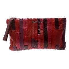 Miu Miu Multicolor Patchwork Nappa Leather Wrislet Clutch