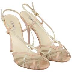 Miu Miu Patent Leather Strappy Sandals Pumps Size 38