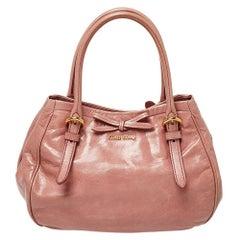 Miu Miu Pink Leather Bow Shoulder Bag