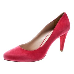 Miu Miu Pink Suede Pumps Size 41.5