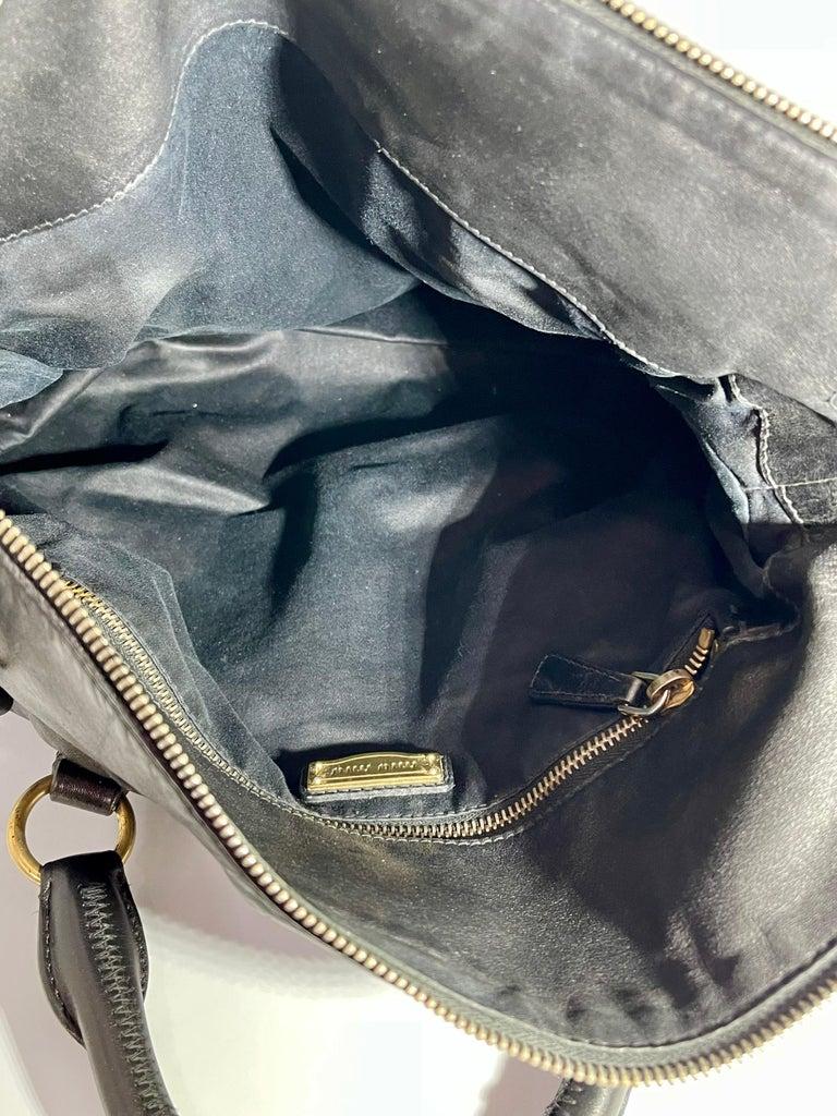 Miu Miu Prada Bow Vitello Lux Medium Calfskin Leather Satchel, Black, Bow bag For Sale 10
