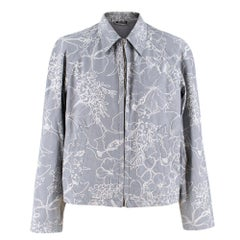 Miu Miu Printed Cotton Zip-Up Jacket L 50
