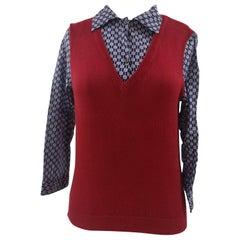 Miu Miu red and blue shirt - sweater