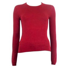 MIU MIU red cashmere blend Crewneck Sweater 40 S