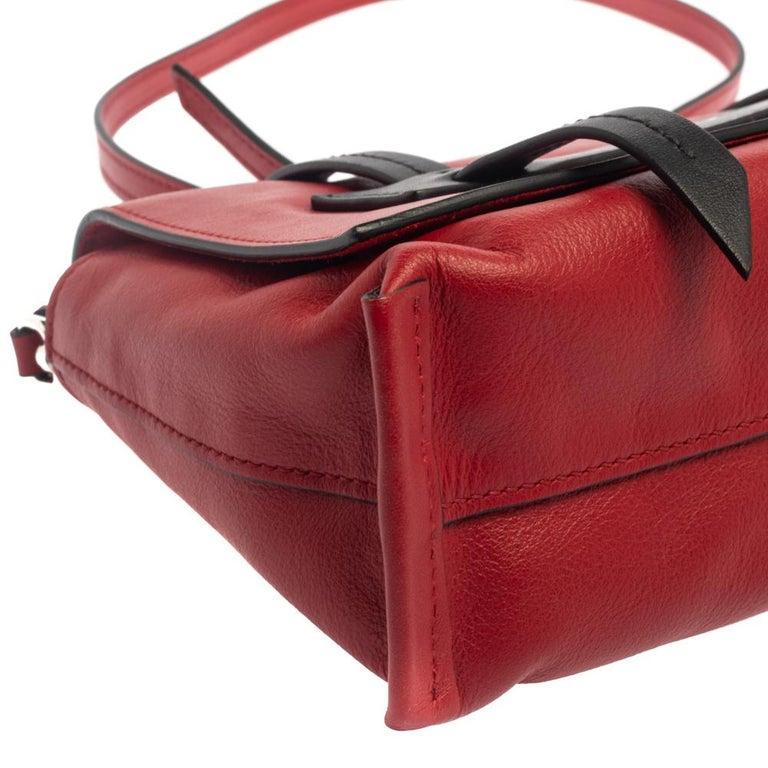 Miu Miu Red Leather Grace Shoulder Bag For Sale 8