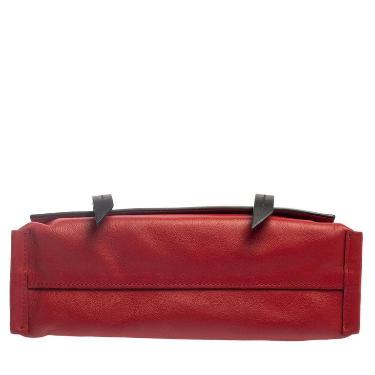 Miu Miu Red Leather Grace Shoulder Bag For Sale 1