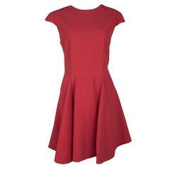 Miu Miu Red Open Back Tie Detail Flared Cady Dress L