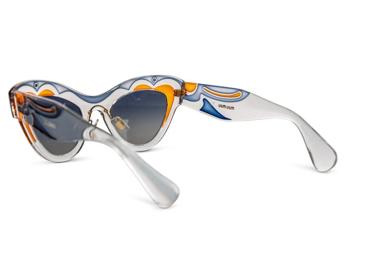 Miu MIu Runway Butterfly Cat Eye Sunglasses, 2014 In Excellent Condition For Sale In Boca Raton, FL