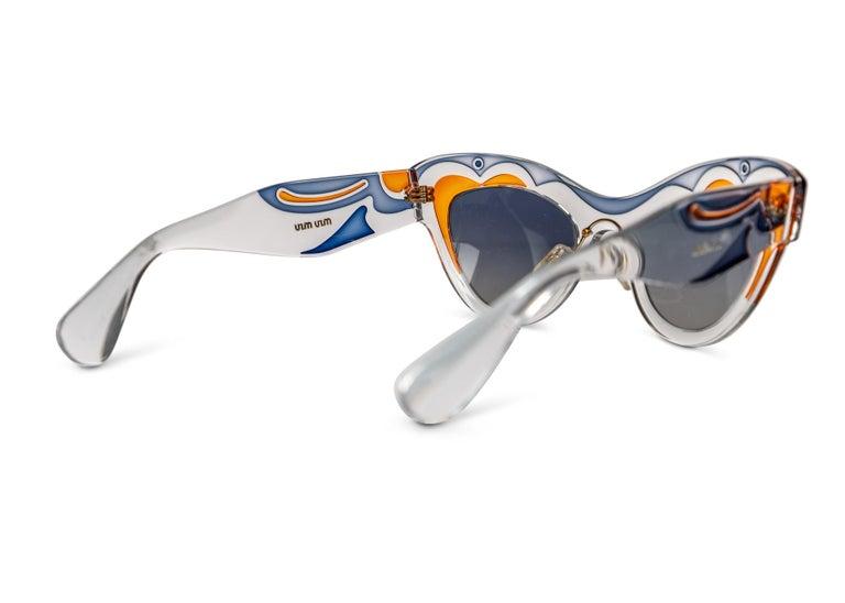 Women's or Men's Miu MIu Runway Butterfly Cat Eye Sunglasses, 2014 For Sale