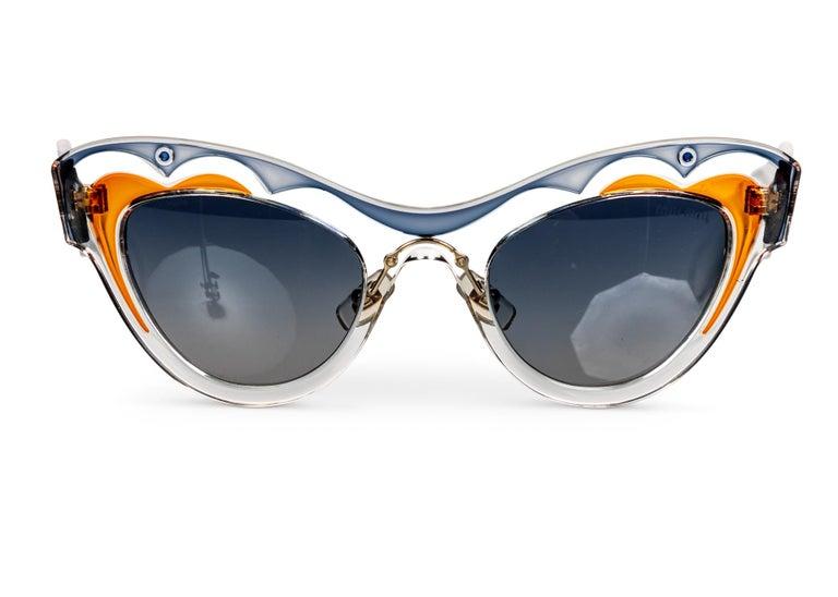 Miu MIu Runway Butterfly Cat Eye Sunglasses, 2014 For Sale 1
