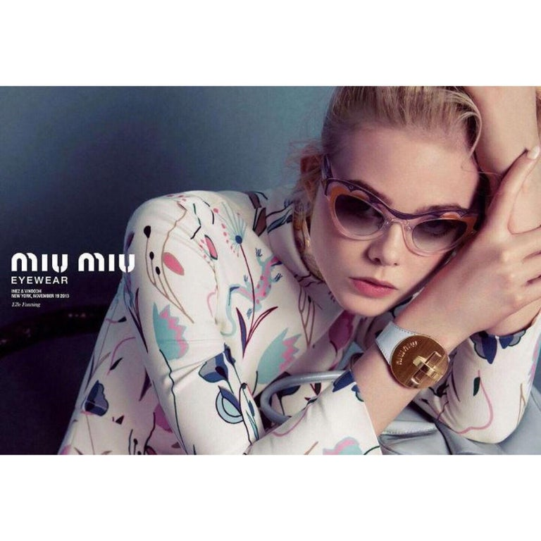 Miu MIu Runway Butterfly Cat Eye Sunglasses, 2014 For Sale 2