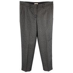 MIU MIU Size 2 Grey Houndstooth Wool Dress Pants