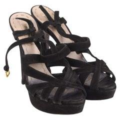 Miu Miu Strappy Sandals Pumps Heels Size 38.5