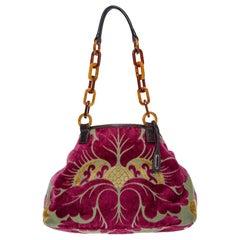 Miu Miu Velvet Jacard shoulder bag