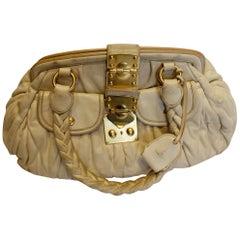 Miu Miu White Leather  Bag