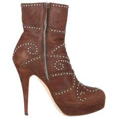 Miu Miu Woman Ankle boots Brown IT 39