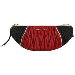Miu Miu Woman Belt bag Black, Red