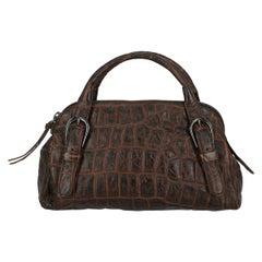 Miu Miu Woman Handbag Brown Leather