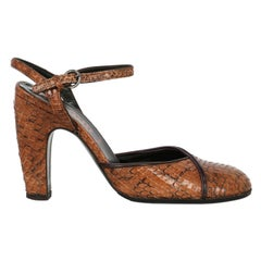 Miu Miu Woman Pumps Brown Leather IT 38