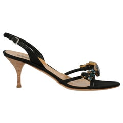 Miu Miu Woman Sandals Black EU 38