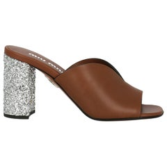 Miu Miu Woman Sandals Brown EU 36