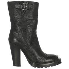 Miu Miu Women  Ankle boots Black Leather IT 37