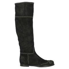 Miu Miu Women  Boots Black Leather IT 39
