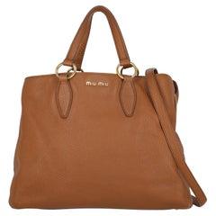 Miu Miu  Women   Handbags  Brown Leather