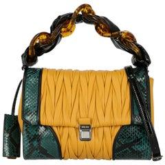 Miu Miu Women  Handbags Green Leather