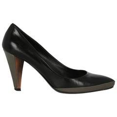Miu Miu  Women   Pumps  Black, Grey Leather EU 37.5