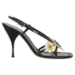 Miu Miu Women  Sandals Black Leather IT 39.5