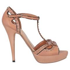 Miu Miu Women  Sandals Pink Leather IT 40.5