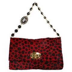 Miu Miu  Women   Shoulder bags  Black, Red Leather